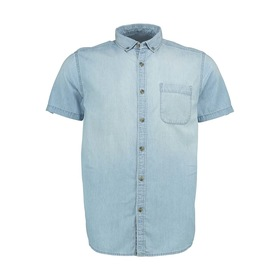 Short Sleeve Bleach Chambray Shirt