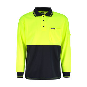 Workwear Long Sleeve Fluorescent Polo Tee