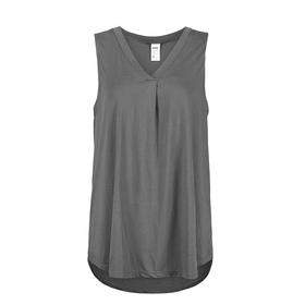 935d244181 Sleeveless Knit Woven Mix Top