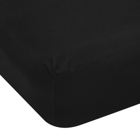 Double Bed Fitted Sheet - 225TC, Black