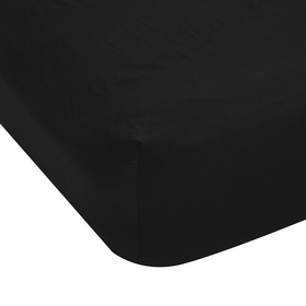 225 Thread Count Fitted Sheet - King Bed, Black