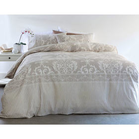 Damask Quilt Cover Set - Single Bed