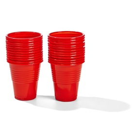 24 Pack Red Plastic Cups