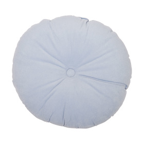 Jasmine Velvet Round Cushion - Blue