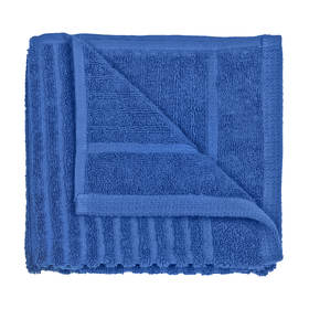 Metro Ribbed Cotton Hand Towel - Cobalt Blue