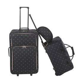 3 Piece Polka Dot Luggage Set
