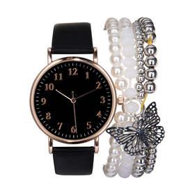 e3aabf02b95 Watch   Bracelet Set - Black   Rose Gold Look