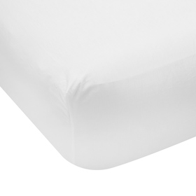Fitted Sheet - King Bed, White