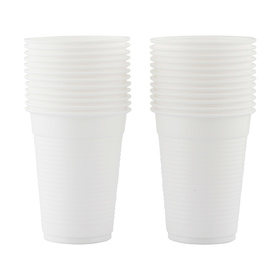 Plastic Cups - White, Pack of 24