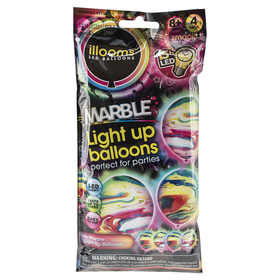 Illooms Marble Light Up Balloons - Set of 4