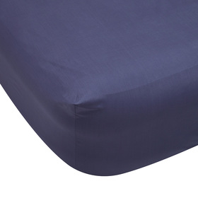 225 Thread Count Fitted Sheet - Queen Bed, Denim