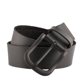 Casual Leather Belt with Gunmetal Buckle