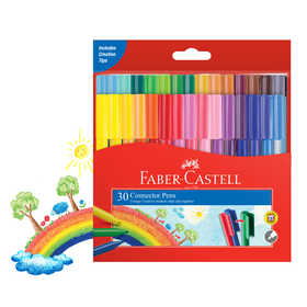 Faber-Castell Connector Pens - Pack of 30