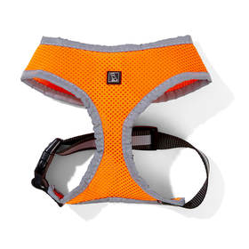 Reflective Mesh Dog Harness - Small, Orange