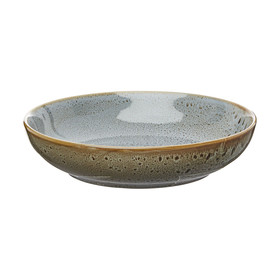 Dark Grey Glazed Large Bowl