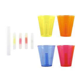 4 Pack 330ml Glow Cups