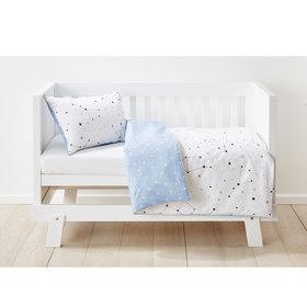 Cotton Cot Quilt Cover Set - Stars