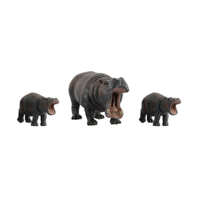 Hippopotamus Family Playset
