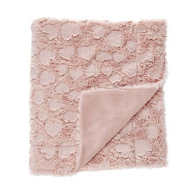 Faux Fur Throw Pink