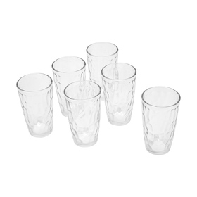 Embossed Tumblers - Pack of 6