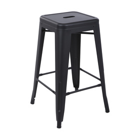 Metal Bar Stool - Black