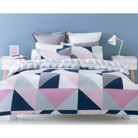 Jasper Reversible Quilt Cover Set - King Bed