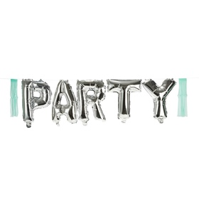 Foil Party Balloon Garland - Silver