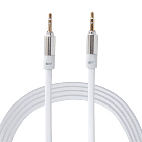 Flat Aux Cable - White