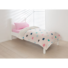 Spot Reversible Blanket - Single Bed, Pink