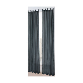 Charcoal Bordeaux Tab Top Curtain