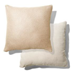 Knit Cushion - Metallic