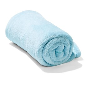Coral Fleece Throw - Blue