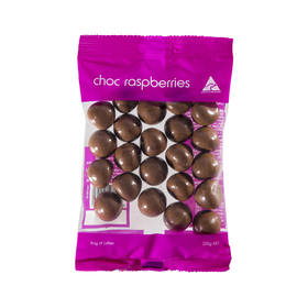 225g Choc Raspberries