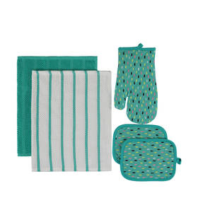 5-Piece Kitchen Set - Aqua