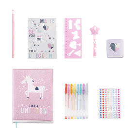 15-Piece Glitter Stationery Set