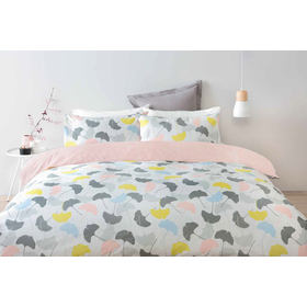 Reversible Ginko Quilt Cover Set - King Bed