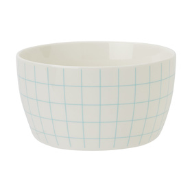 Cereal Bowl - Mint Grid