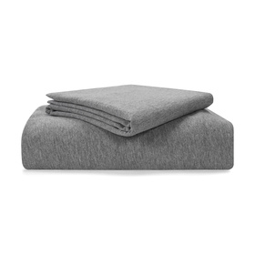 Jersey Fitted Sheet Set - Single Bed, Grey Marle