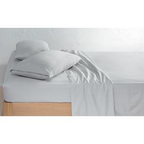 225 Thread Count Vintage Wash Cotton Sheet Set   Queen Bed, Grey