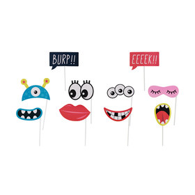 10 Piece Quirky Faces Party Prop Kit