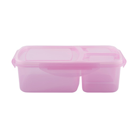 3 Compartment Lunch Box - Pink