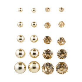 10 Pack Studs - Gold Look