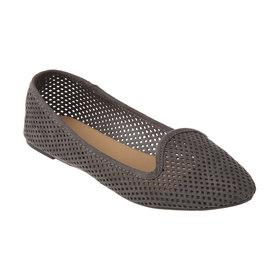 06e288cab57d8 Almond Toe Perforated Flats