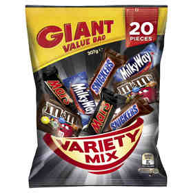 Mars Variety Sharepack - 307g, Pack of 20