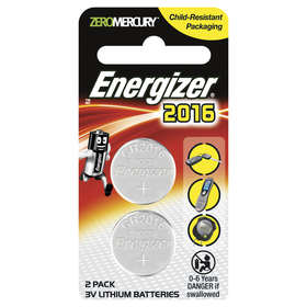 Energizer 2016 3V Lithium Batteries - Set of 2
