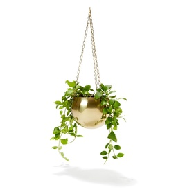 Brass Plated Hanging Planter