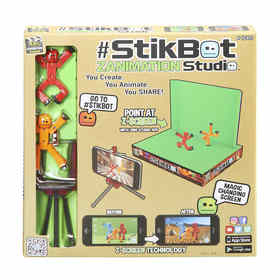 Zing Stikbot Zanimation Studio - Set of 5, Assorted