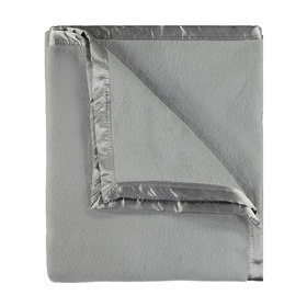 Brushed Cotton Cot Blanket - Grey