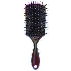 Iridescent Rainbow Paddle Brush