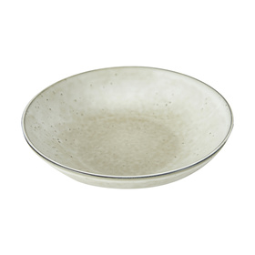 Dimpled Large Bowl Beige